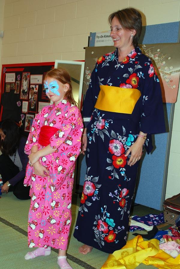 Kimonos at Japanese Cultural Event Swindon