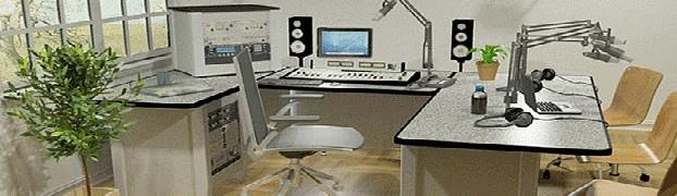 Voice-over studio at MRA Studios