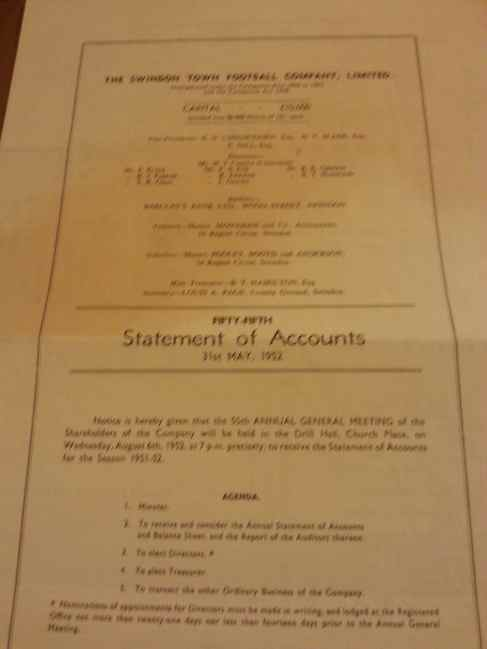 STFC 1052 Statement of accounts