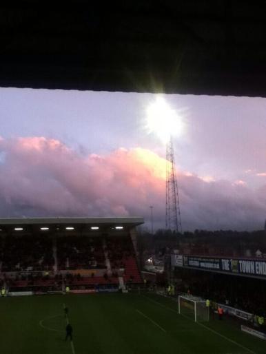 Inside the Swindon County ground