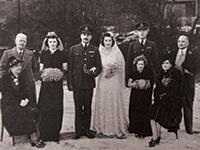 photograph of 1940s wedding group