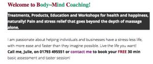 Body-Mind coaching info
