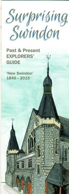 Front cover of surprising swindon map
