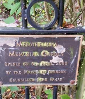 plaque on gates