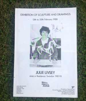 front of leaflet showing a woman and a model