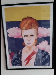 Ken white print of david bowie