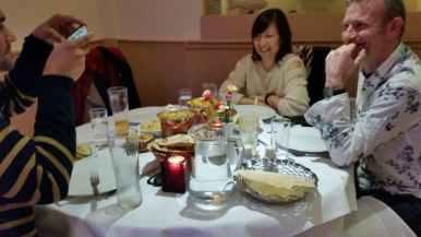 Enjoying Diwali restaurant