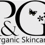 Pink and green organic skincare logo
