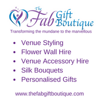 The Fab Gift Boutique for wedding venue styling and personalised gifts