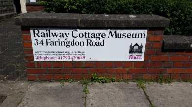 Railway cottage museum signage