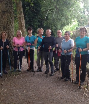 The Lawns Nordic walking group - discovering swindon