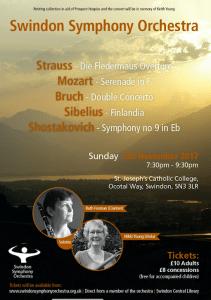 Concert poster Swindon Symphony orchestra