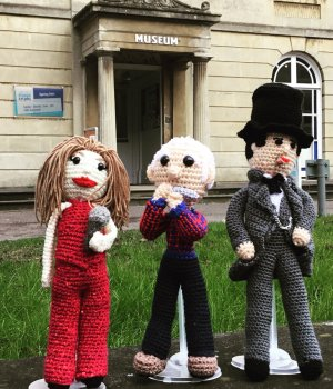 Swindon celebrities get knitted