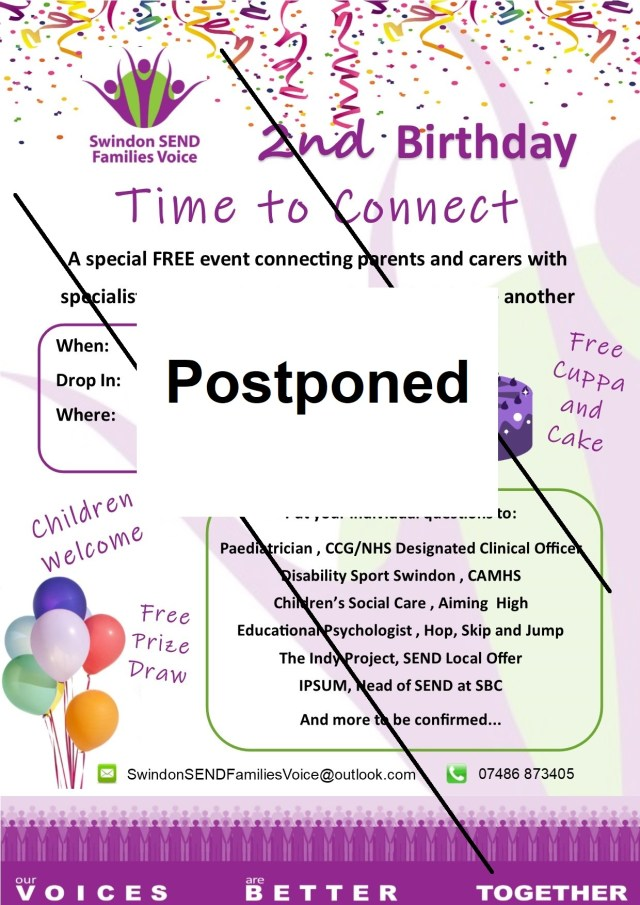 Postponed 2nd Birthday Advert