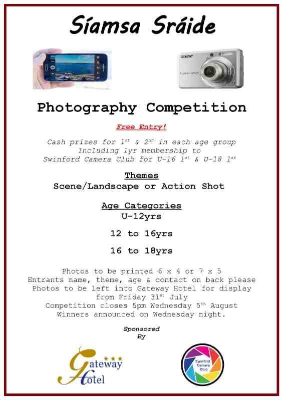 photo competition Siamsa Sraide 2015 poster