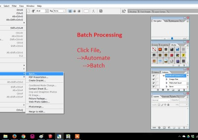 Batch Processing Adding Watermark