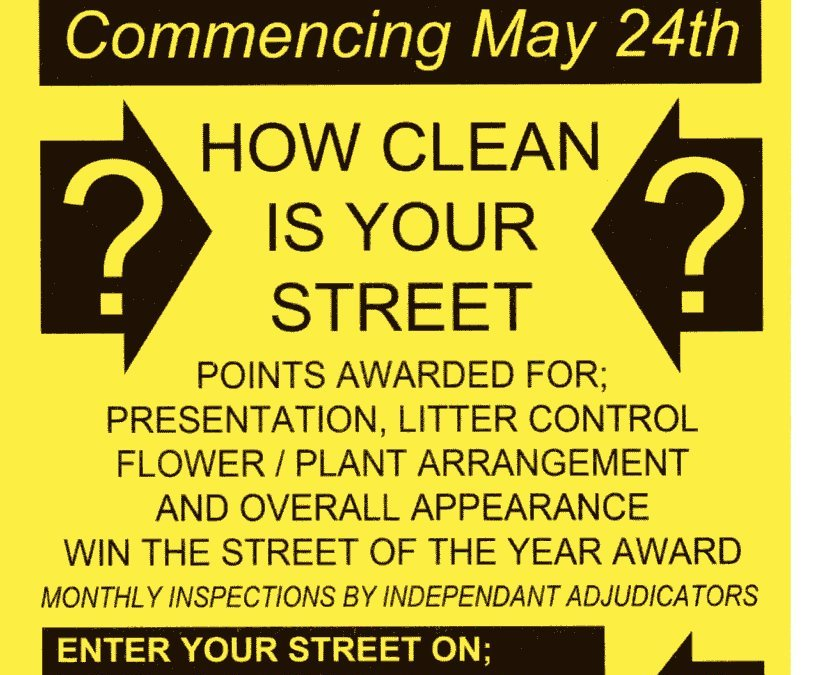 Clean Street League starts 24th May
