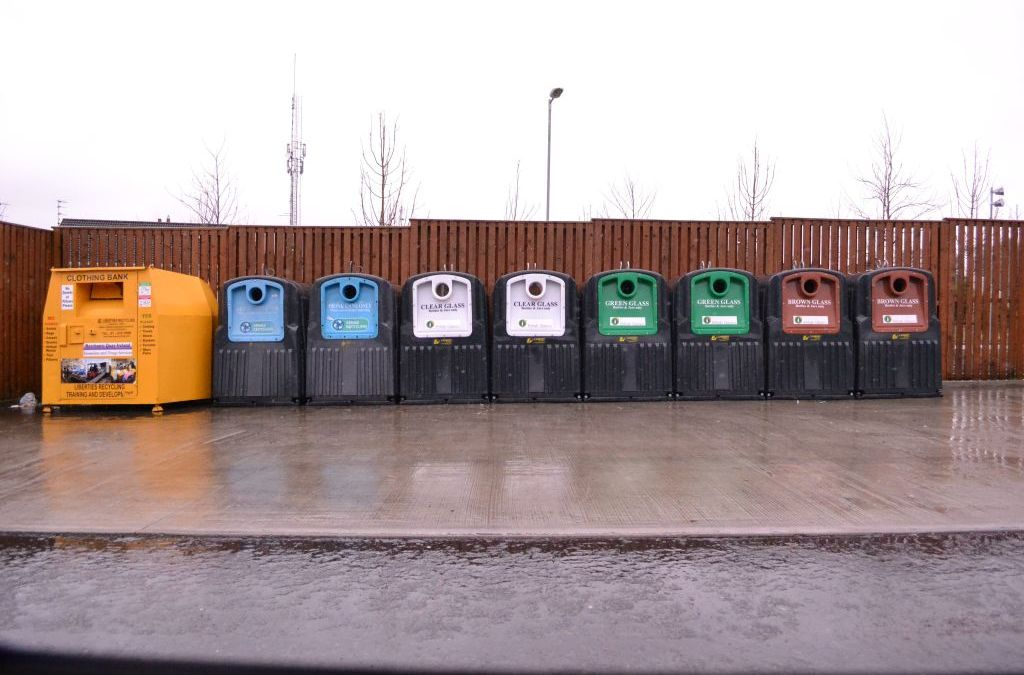 New Recycling Bank at Tesco Swinford