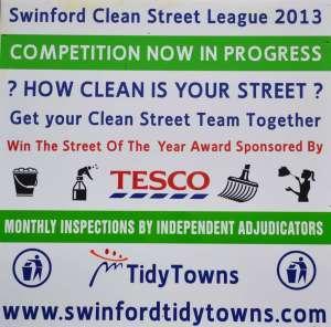 Swinford Clean Street League 2013 Poster