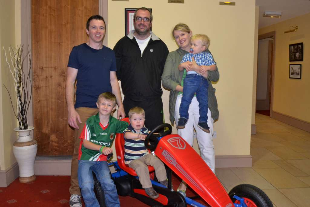 James Campbell Presented with go cart