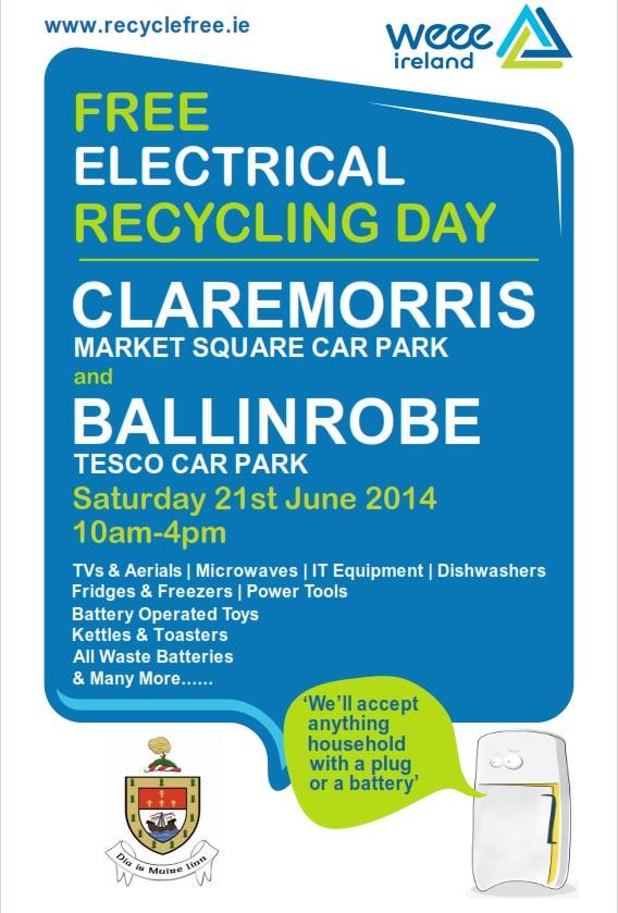 electrical recycling in Claremorris and Ballinrobe