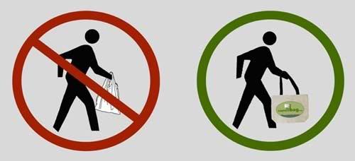 Reuse shopping bag icon
