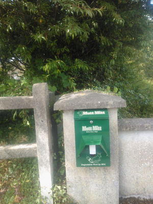 Dispenser at Aras Attracta entrance Park Rd