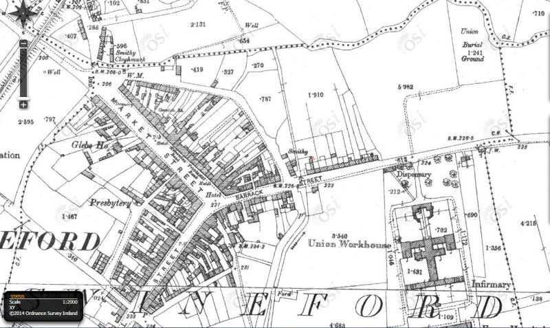 Swinford Famine Graveyard map