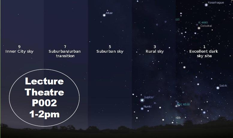 urban light pollution sky map