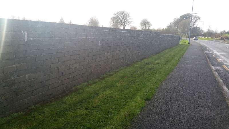Swinford Amenity Park Wall project-