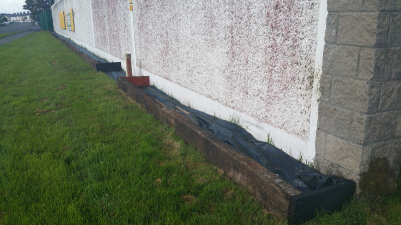 Swinford ESB wall flowerbed-