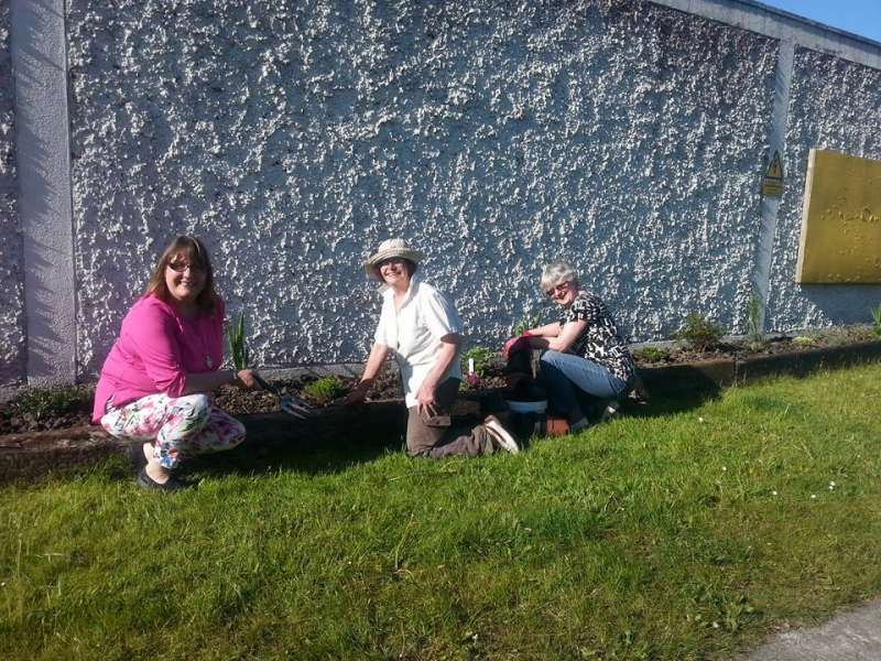 Swinford ESB wall flowerbed-country market committee