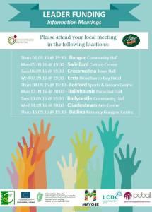 mayo leader funding information meetings 2016 poster