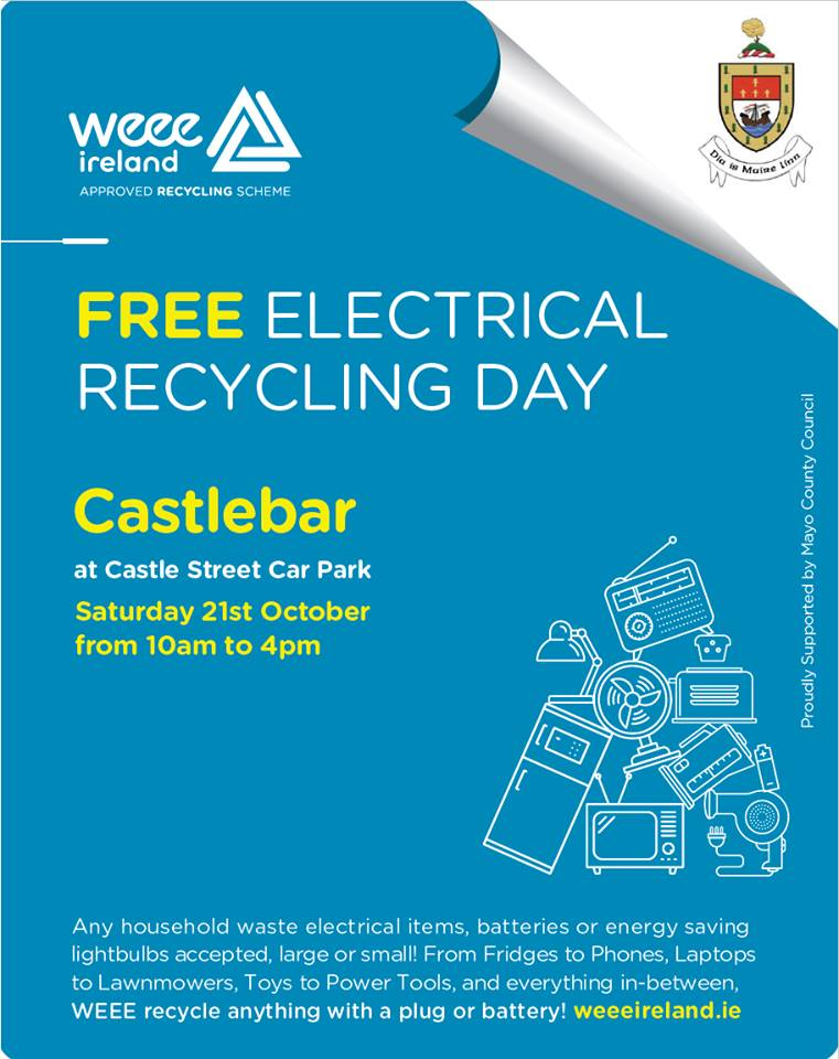 Free Electrical Recycling Day Castlebar