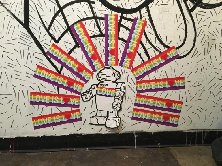 Piece of artwork found in Cartel's bathroom in Tempe, Arizona.