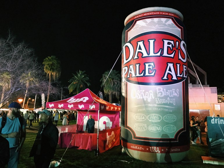 Inflatable Dale's Pale Ale from Oskar Blues Brewery at McDowell Mountain Music Festival (M3Fest)