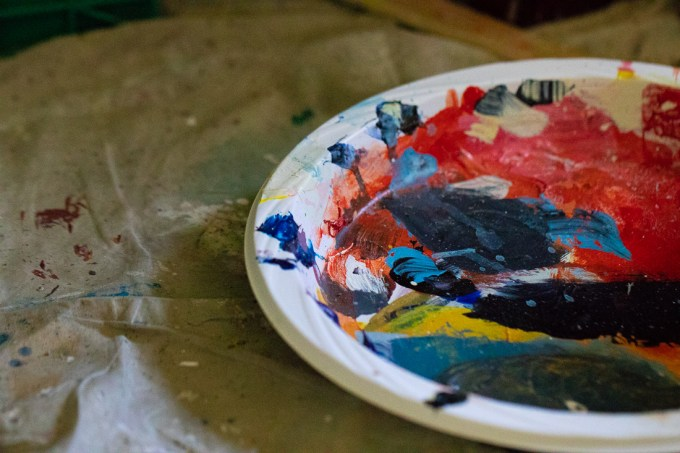 Acrylic Paint on Paper Plates