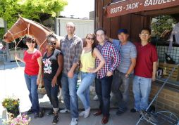 Amy and the gang in Los Olivos