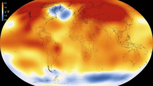"Photo from Scripps Howard Foundation Wire. ""2015 was the warmest year on record by a wide margin, according to data released Wednesday by NASA and the U.S. National Oceanic and Atmospheric Administration. Graphic provided by NASA."""