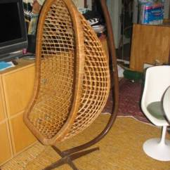 Chair Swing Stand Cover Hire Hamilton Nz Vintage Mid Century Hanging Egg Rattan/bamboo + | Another Man's Treasure In Montreal