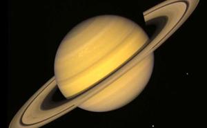 rings edge on of Saturn