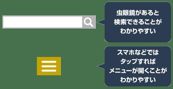 検索ボックスのアフォーダンス