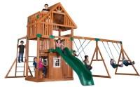 Wooden Swing Set Reviews. Big Backyard Windale Wooden ...