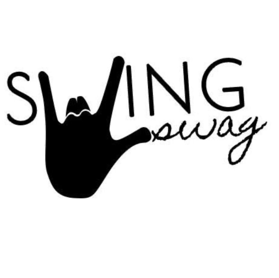 Swing Swag Hand Logo with script