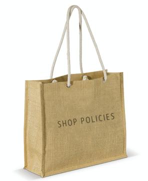 shop policies shopping bag