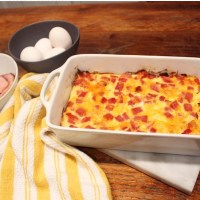 Ham Hashbrown Breakfast Casserole
