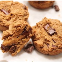 Chickpea Blondie Chocolate Chunk Muffins