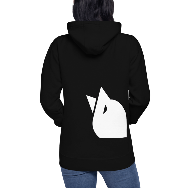 Swipeby black hoodie with large SWIPEBY mark at the bottom of the sweater.