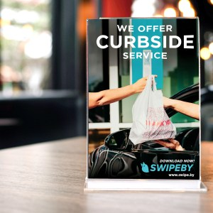 Swipeby Table Tent