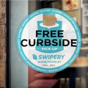 Swipeby Door sticker